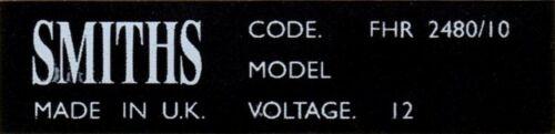 Smiths Heater Autocollant-Morris 1000 OU MINI MK I FHR2480