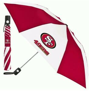 San-Francisco-49-ers-Regenschirm-Automatic-Pocket-Umbrella-NFL-Football-Neu