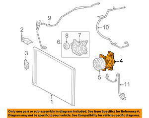 toyota oem 05 15 tacoma a c ac compressor 8832004060 ebay rh ebay com 2006 honda civic ac compressor diagram ac compressor diagram automotive