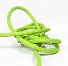 6m 3x1,5mm² Premium Design Textilkabel Apfelgrün Top EU Qualität Stoffkabel