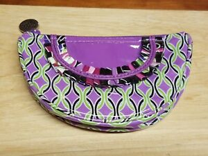 Vera-Bradley-Frill-Collection-Purple-Punch-Small-Cosmetic-plastic-coated-coin