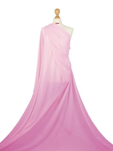 Premium Quality Chiffon Soft Polyester Sheer Fabric Dress Bridal Material CH01