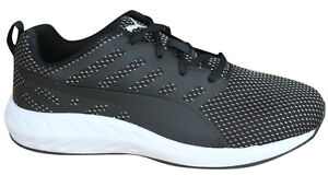Puma Flare Mesh Womens Trainers Running Shoes Black White Textile ... 5c776608e