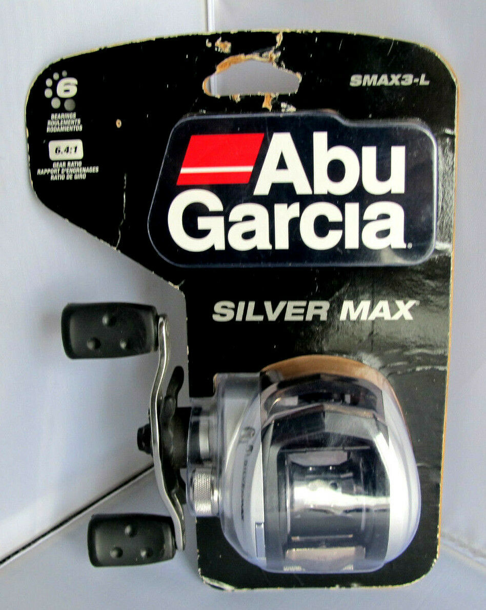 Abu Garcia SMAX3-L Plata Max bajo perfil Giratorio Reel De Pesca-Mano Izquierda