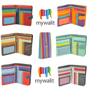 Mywalit-grandi-Snap-Wallet-Zip-Intorno-borsa-con-penna-in-vari-colori-229