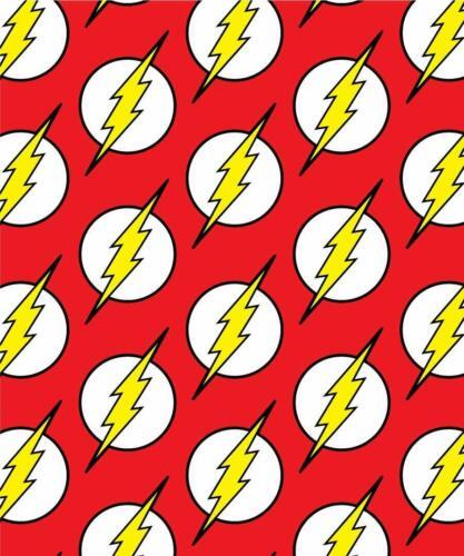 DC Justice League Flash Logo Flannel Borrego Sherpa Fleece Throw Blanket 50x60