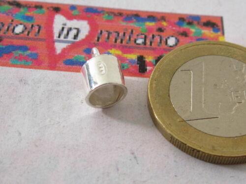 1 CAPICORDA DA INCOLLO  IN ARGENTO 925  MADE IN ITALY 11X6 MM CON FORO DA 5 MM