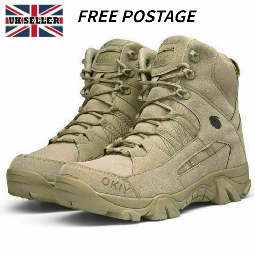 Mens Military Tactical Combat Hiking Boots Outdoor Desert Shoes Training Shoes P
