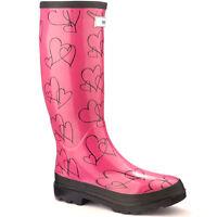 Ladies Splash Wellies Festival Wide Calf Size Uk 3 - 4 Miss Lovely Pink