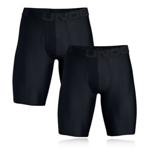 Under-Armour-Homme-Tech-9-in-environ-22-86-cm-BoxerJock-Noir-Sport-Gym-Course-Respirant