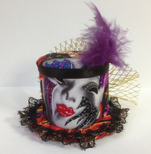 Mardi Gras Carnival Festival Mini Top Hat Mask