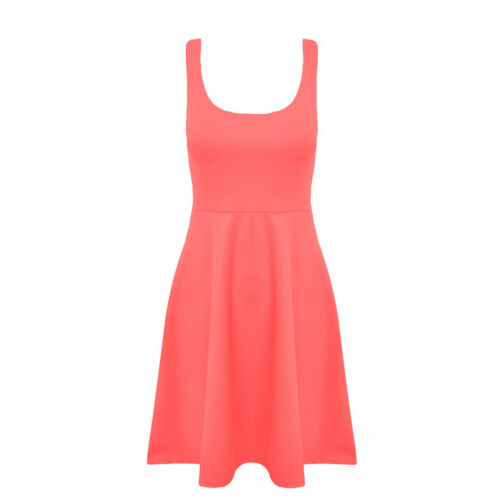 Women Skater Dress Ladies Sleeveless Flared Frankie Dress Girls Short Party Top
