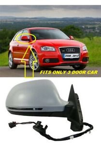 Right Driver side  Wing mirror glass for Audi A3 2008-2010 Heated NEW
