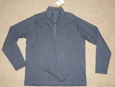 Robert Graham Mens Warrensburg Long Sleeve Knit 1//4 Zip