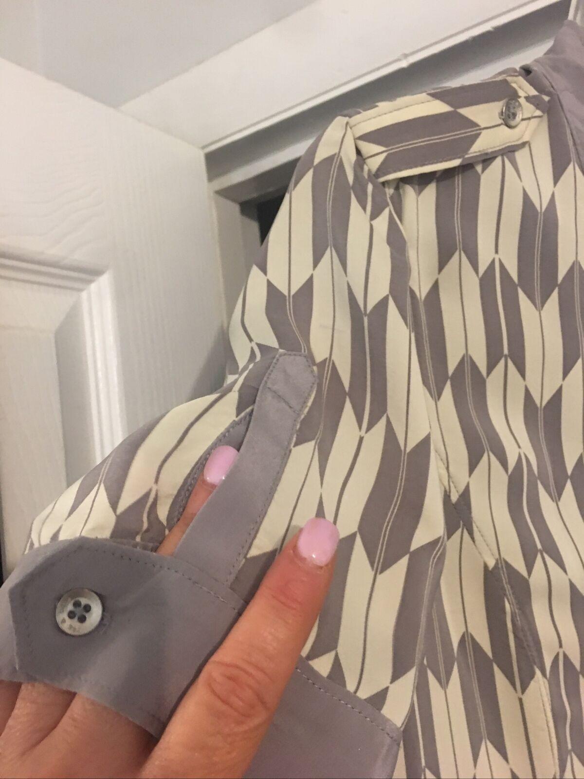 Rag And Bone Dress Gray Taupe Cream Silk Short Sl… - image 7