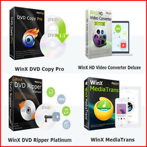 Details about WinX 4 Pack-DVD Ripper-DVD Copy -Video Converter-Video  Downloader-Photo Convert