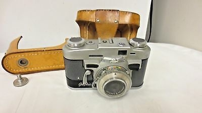 Vintage Graflex Graflar Graphics 35mm SVS Camera-50mm f/2.8 Lens-Leather Case