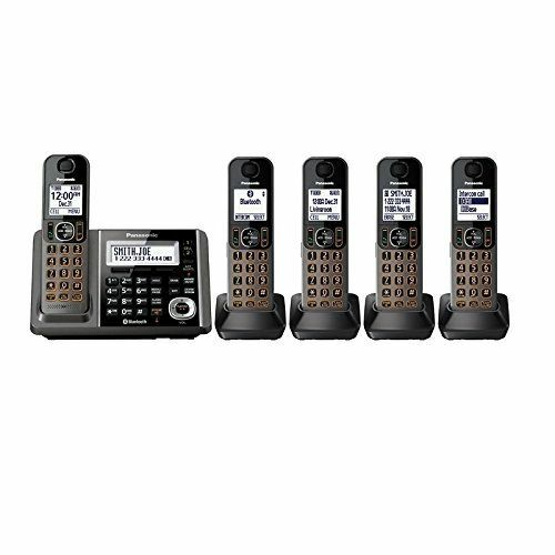 Panasonic KX-TGF345B Cordless Phone and Answering Machine with 5 Handsets