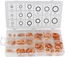 150tlg Kupferscheiben Kupferringe Dichtringe Sortiment Kupfer Unterlegscheiben