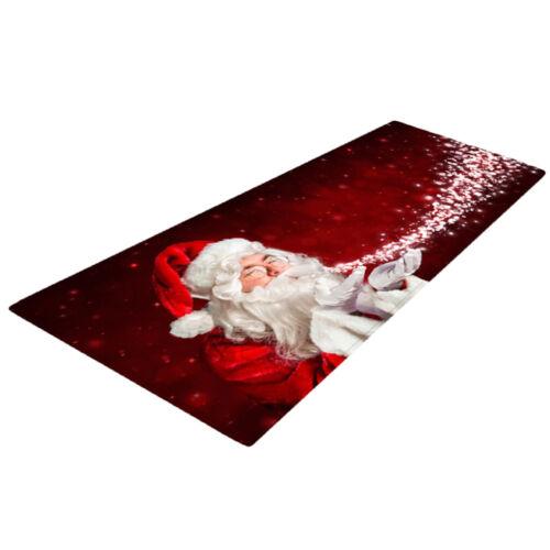 """Velvet Area Rugs Soft Comfort Floor Runner Mat Capert Christmas Them 47x16/"""""""