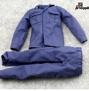 1-6-Scale-Blau-SWAT-Combat-Uniform-allein-Hose-Kleidung-Anhang-12-034-maennliche-Figur