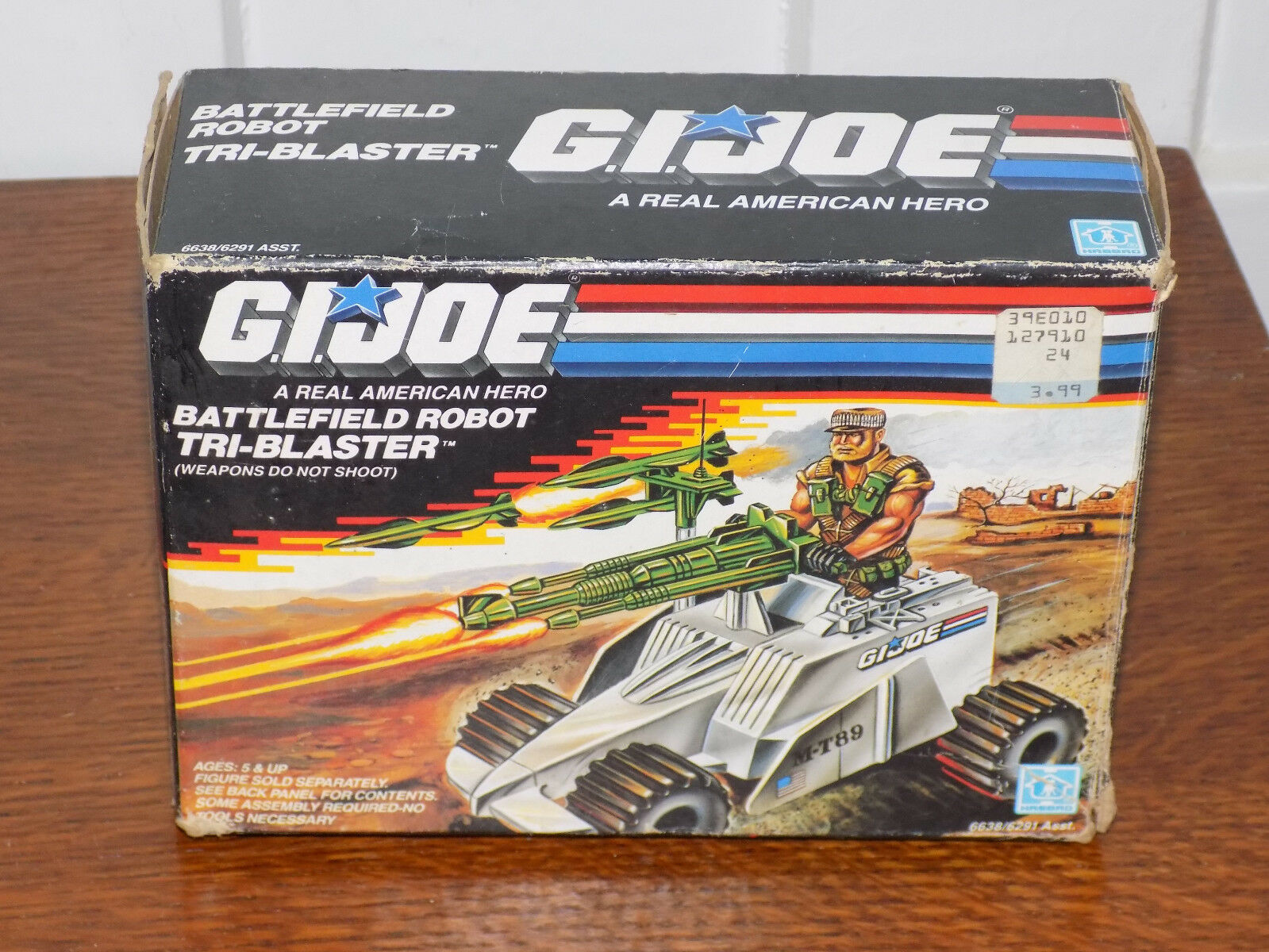 GI Joe Battlefield Robot Tri-Blaster with Box 1988