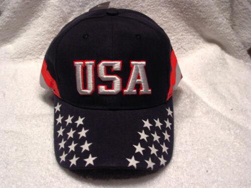 DARK BLUE USA AMERICAN FLAG STARS STRIPES BASEBALL CAP