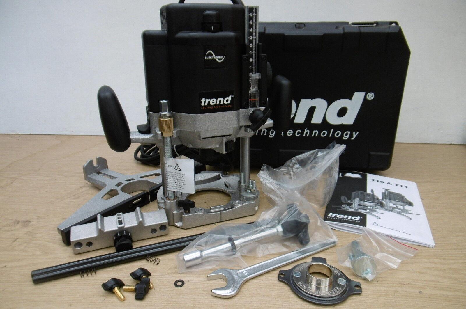 TREND T11EK 2000WATT PLUNGE ROUTER KIT 110V + FREE PHONE POUCH TB33C