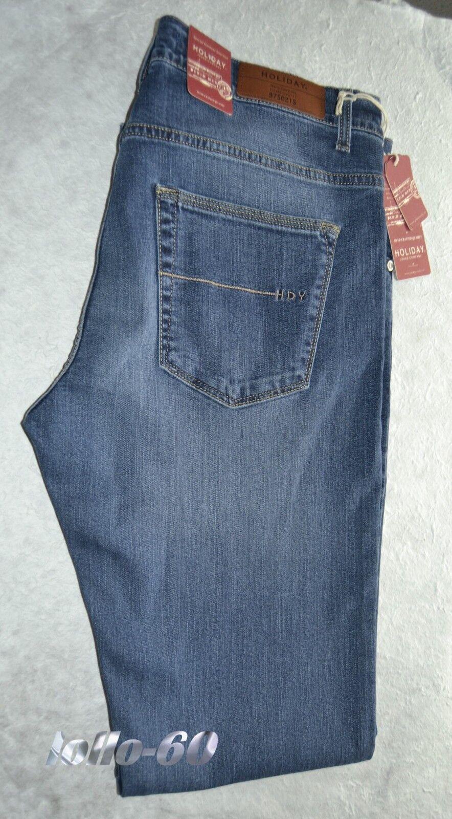 Jeans uomo Taglia 58 HOLIDAY pantalone elasticizzato elasticizzato elasticizzato blu delavè MADE IN ITALY c882ef