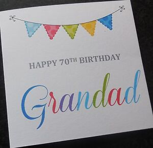 Image Is Loading Personalised Handmade Birthday Card 40th 50th 60th 65th
