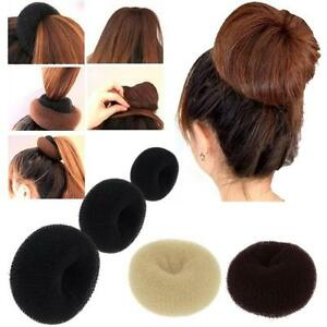 Details About 3 Pcs Hair Donut Bun Maker Ring French Roll Brown Black And Blond S M L