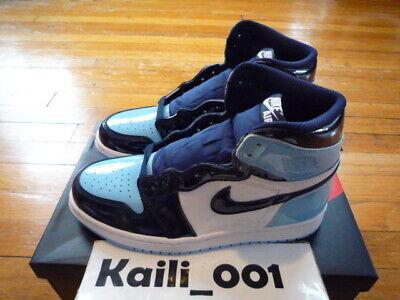Womens Nike Air Jordan 1 High OG Sz 6.5 UNC Patent CD0461-401 Blue Chill  WMNS A | eBay