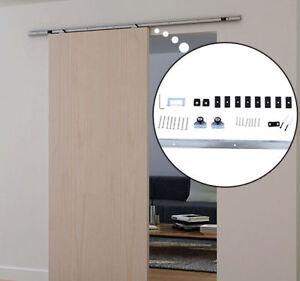 Gentil Details About Sliding Barn Door Hardware Kit 6.1 FT Wood Modern Hang Style  Track Rail Set Pack