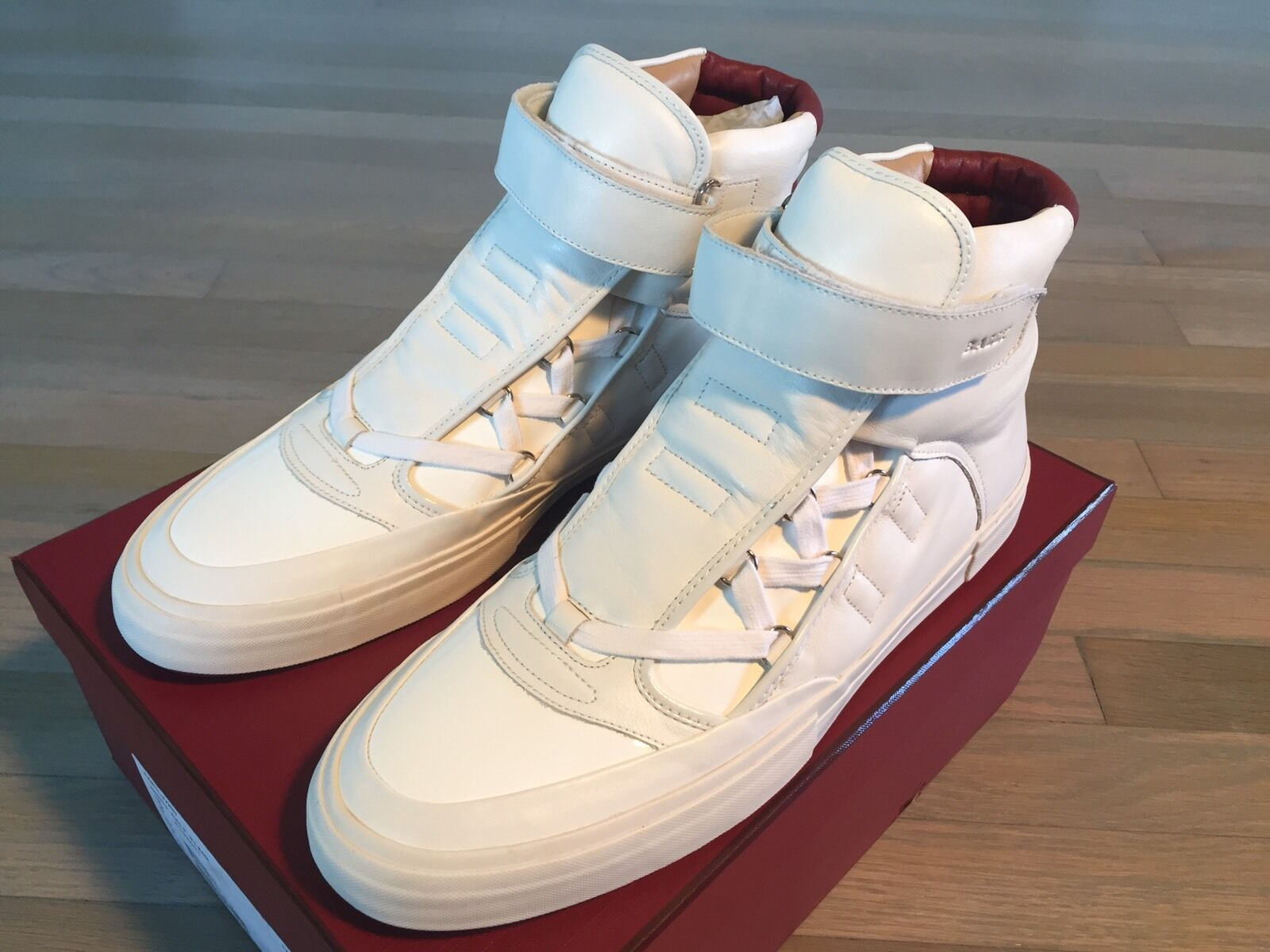 new arrival d9dc1 8f18a 700 White Eartly Leather High Tops Sneakers size US 12 Bally  nntelk3195-Boots