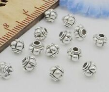 Free Ship 1000Pcs Tibetan Silver Spacer Beads For Jewelry Making 4x5mm NEW