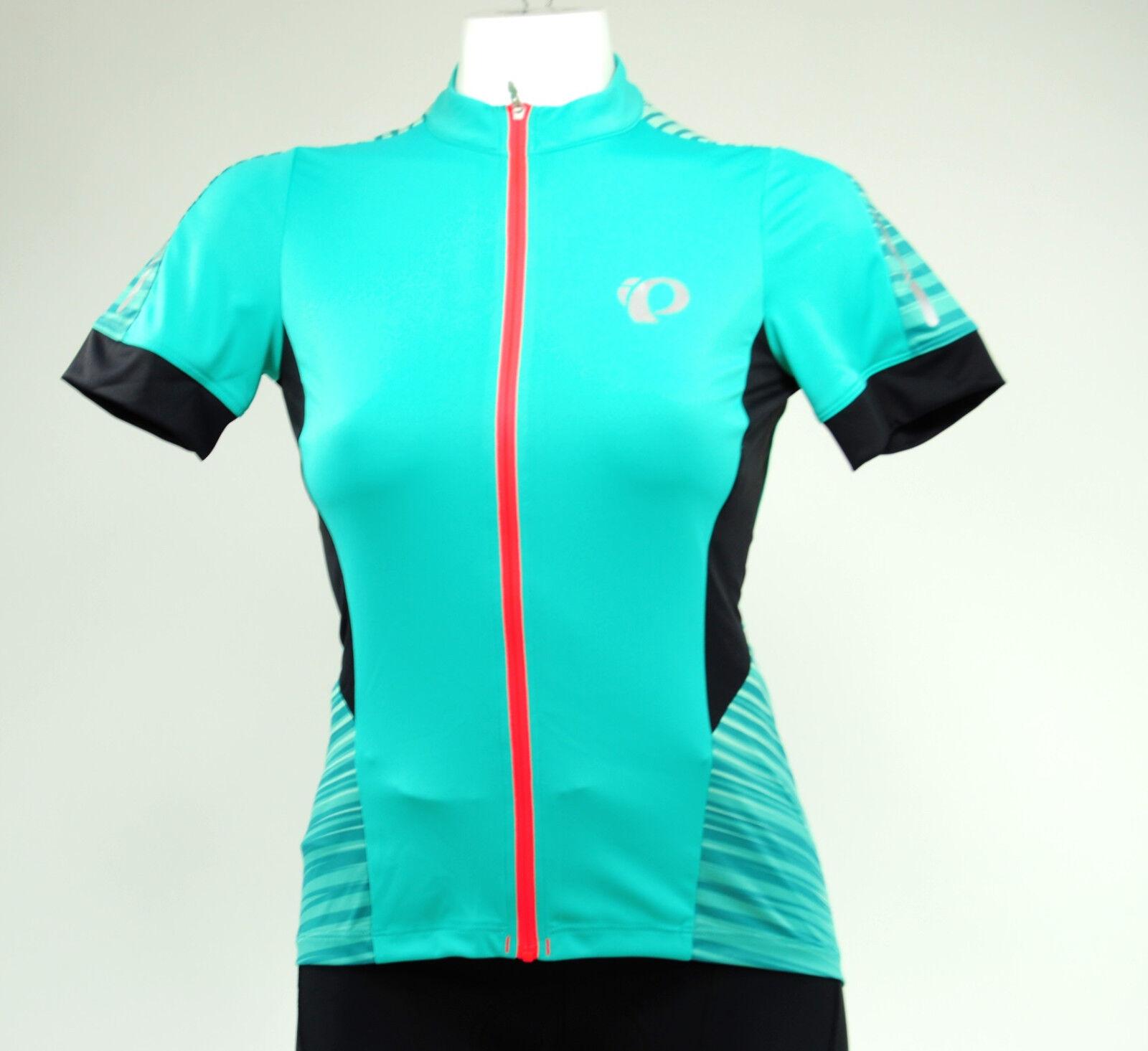 Pearl Izumi Women's Elite Pursuit SS Cycling Jersey, Atlantis Rush, Size Medium