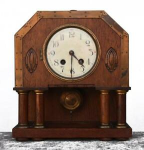 Pendule Art And Krafts Horlogerie Belge En Chêne Apparence EsthéTique