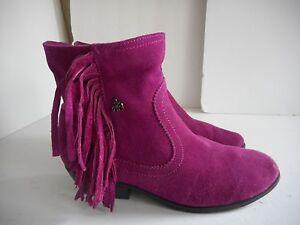 8c140ccfa62b60 Sam Edelman Berry Louie Suede Side Zip Side Fringe Ankle Boot SZ 3 ...