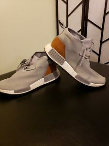 purchase cheap f80af b18d7 Image is loading Men-039-s-Adidas-Gray-NMD-C1-Trail-