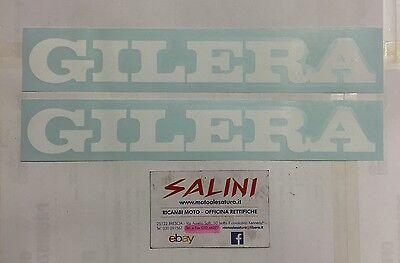 Sticker Adesivo coppia scritta prespaziata GILERA Bianca Grande