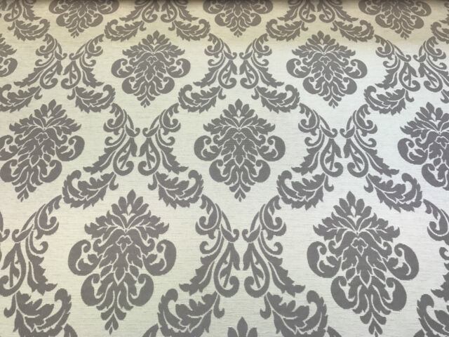 Cream Chenille Soft Damask Upholstery Curtain Sofa Fabric Material Velvet Luxury