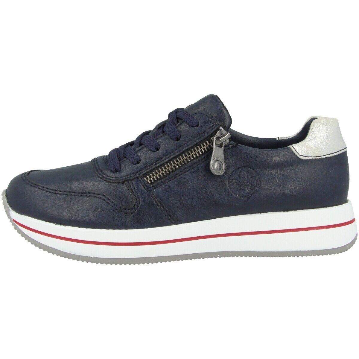 Rieker N4530-14 Schuhe damen Damen Turnschuhe Antistress Halbschuhe Schnürschuhe