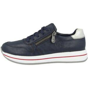 Rieker M3724 60 Denim blue lacing shoes