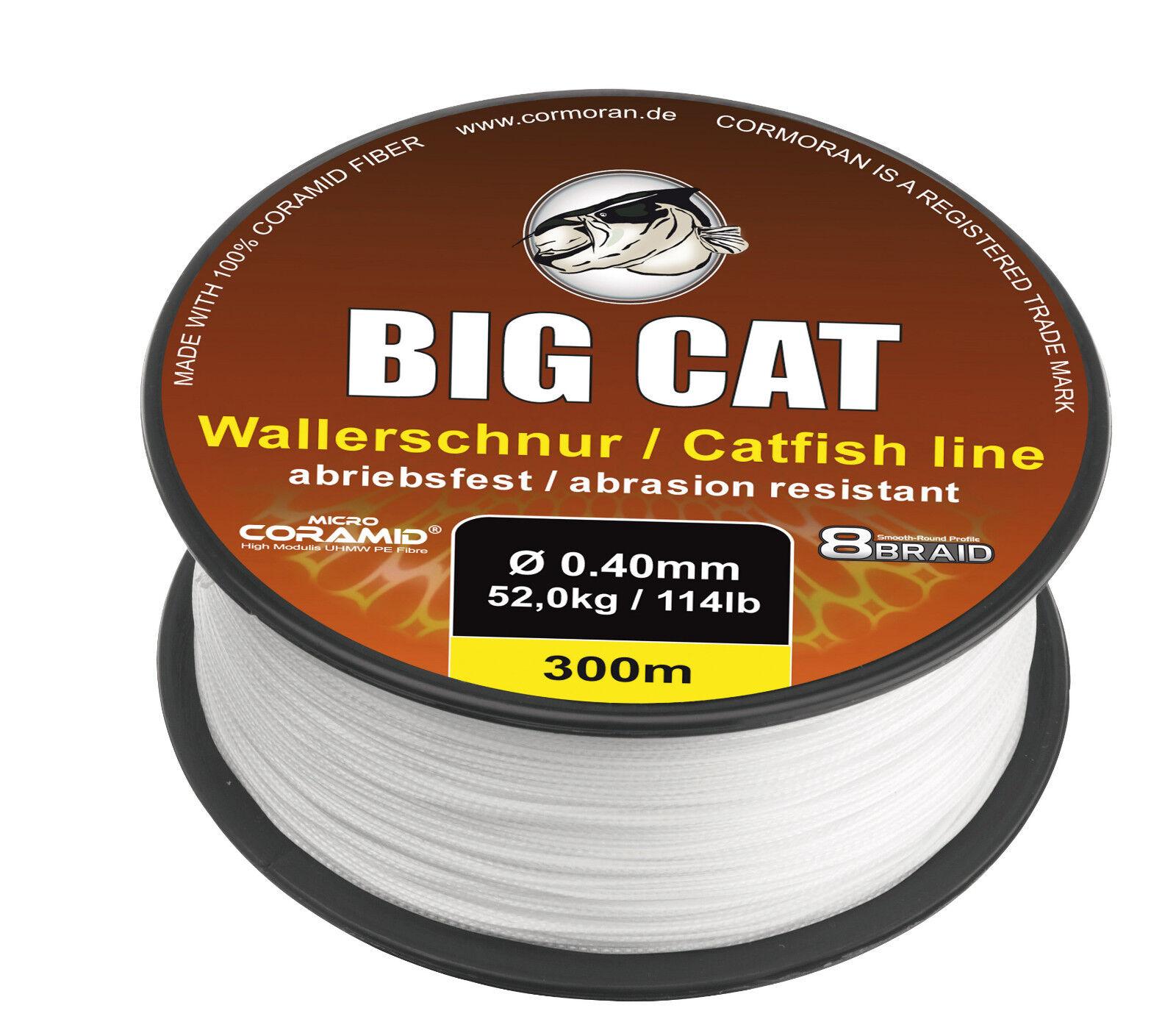 CORMORAN BIG CAT 8-BRAID CATFISH Geflochtene CORAMID Waller-Schnur   m