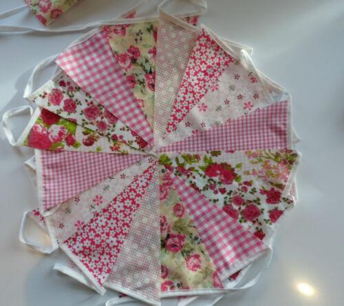 Shabby mariages chic vintage Florals à Partir De £ 3. CLEARANCE Handmade Tissu Bunting