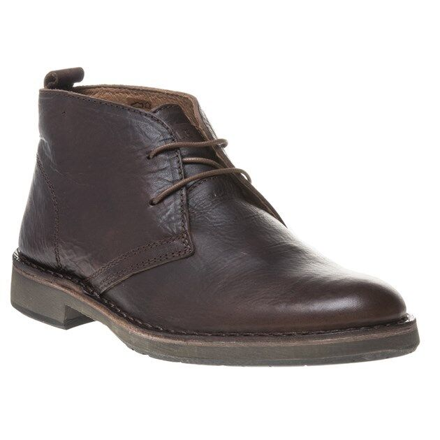 New Mens SOLE braun Elms Leather Stiefel Chukka Lace Up