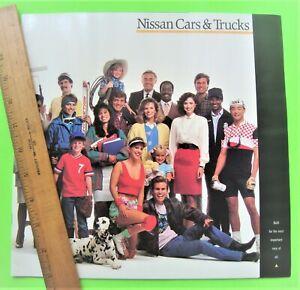 1989-NISSAN-HUGE-FULL-LINE-DLX-CATALOG-Brochure-28-pg-300ZX-Trucks-PULSAR-XLNT