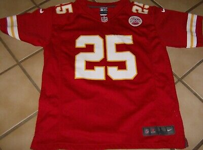 Nike On Field NFL Jersey Jamaal Charles Kansas City Chiefs #25 Youth Sz Large