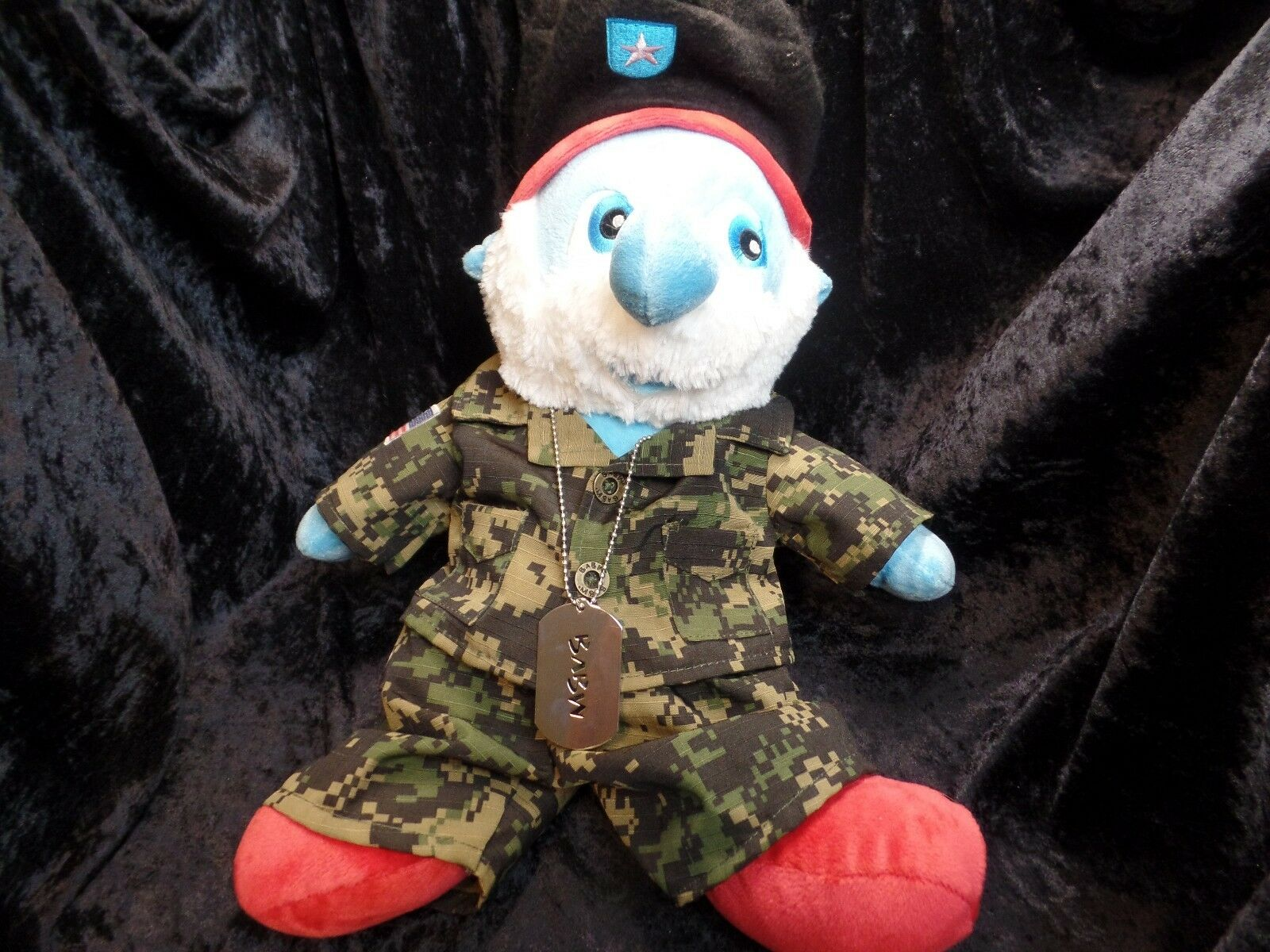 Papa Papa Papa Smurf Plush From Build-A-Bear Workshop Stuffed With Hugs And Good Wishes  20a1b0