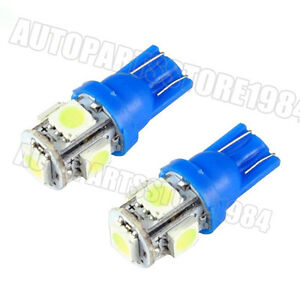 10X Ice Blue T10 5SMD 5050 LED Car License Side W5W 168 194 192 Wedge Bulb Light